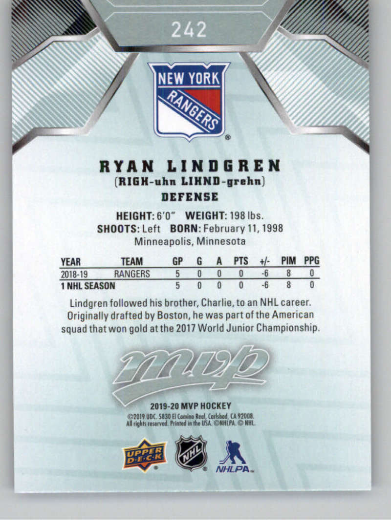 miniature 357 - 2019-20-Upper-Deck-MVP-NHL-Hockey-Cards-Pick-From-List-Base-SP-and-Rookies
