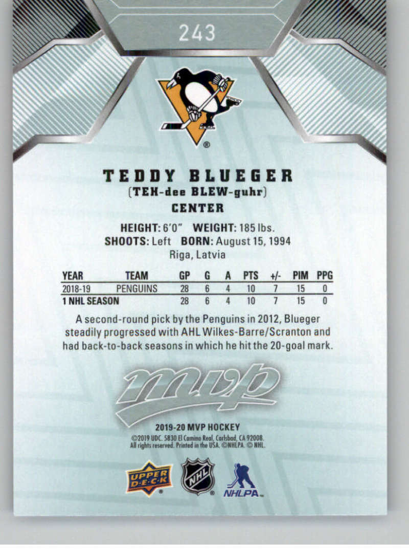 miniature 359 - 2019-20-Upper-Deck-MVP-NHL-Hockey-Cards-Pick-From-List-Base-SP-and-Rookies