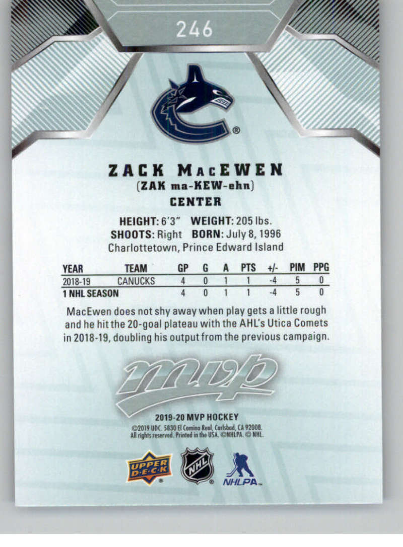 miniature 365 - 2019-20-Upper-Deck-MVP-NHL-Hockey-Cards-Pick-From-List-Base-SP-and-Rookies