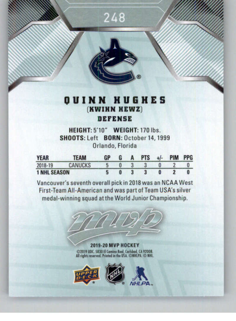 miniature 369 - 2019-20-Upper-Deck-MVP-NHL-Hockey-Cards-Pick-From-List-Base-SP-and-Rookies