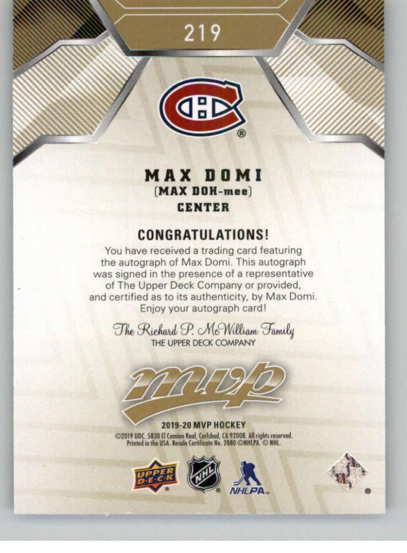 2019-20-Upper-Deck-MVP-Hockey-INSERT-OR-AUTOGRAPH-CARDS-Pick-From-List miniature 9