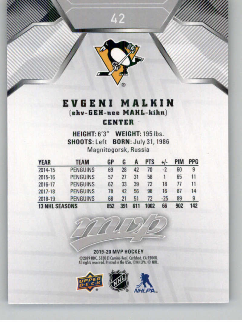 miniature 53 - 2019-20-Upper-Deck-MVP-Silver-Script-NHL-Hockey-Trading-Cards-Pick-From-List