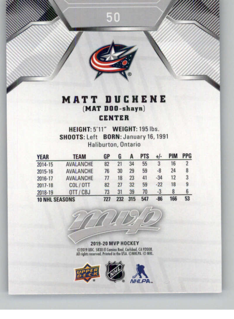 miniature 63 - 2019-20-Upper-Deck-MVP-Silver-Script-NHL-Hockey-Trading-Cards-Pick-From-List