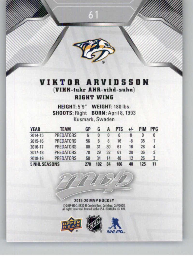miniature 85 - 2019-20-Upper-Deck-MVP-Silver-Script-NHL-Hockey-Trading-Cards-Pick-From-List