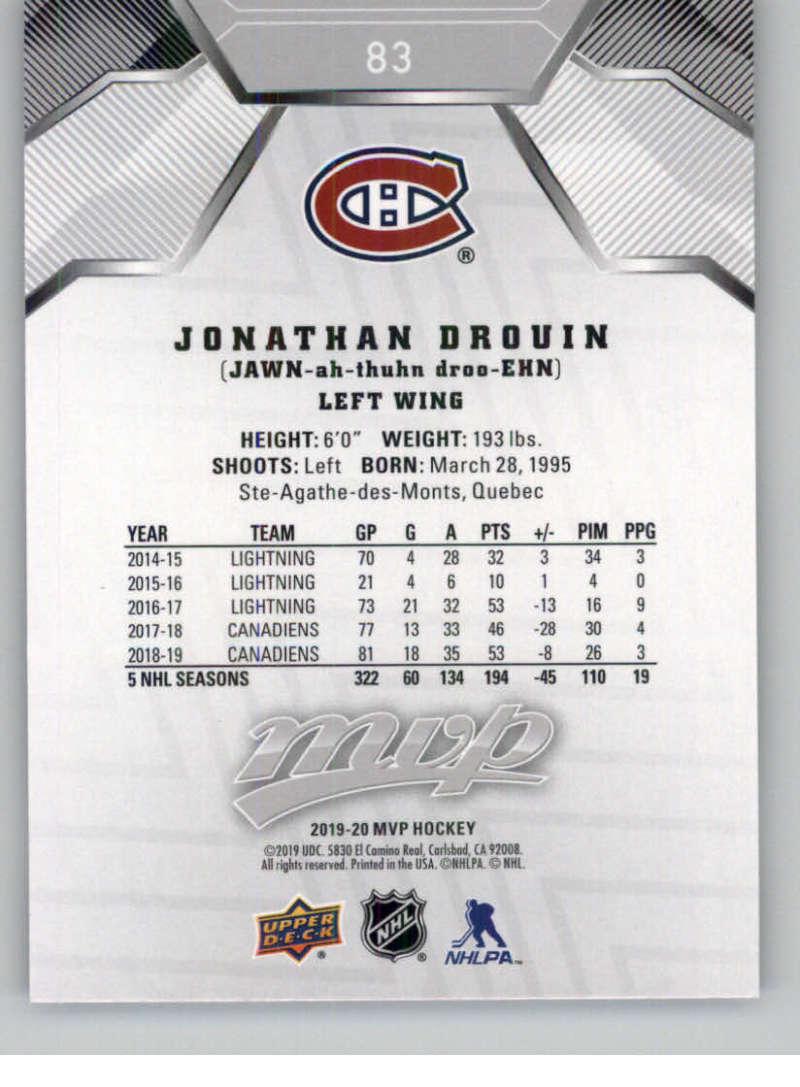 miniature 115 - 2019-20-Upper-Deck-MVP-Silver-Script-NHL-Hockey-Trading-Cards-Pick-From-List