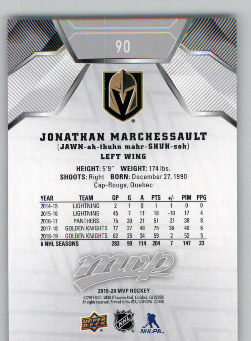 miniature 129 - 2019-20-Upper-Deck-MVP-Silver-Script-NHL-Hockey-Trading-Cards-Pick-From-List