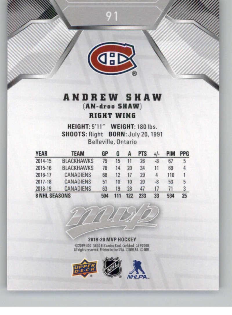miniature 131 - 2019-20-Upper-Deck-MVP-Silver-Script-NHL-Hockey-Trading-Cards-Pick-From-List