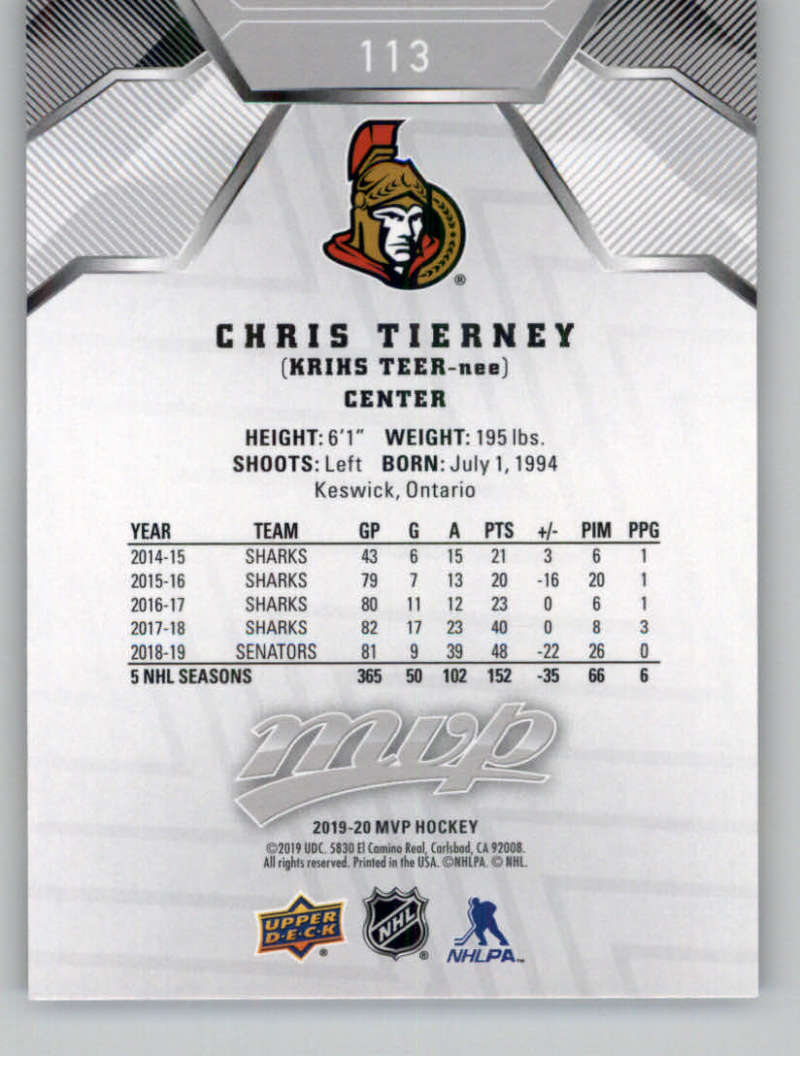 miniature 155 - 2019-20-Upper-Deck-MVP-Silver-Script-NHL-Hockey-Trading-Cards-Pick-From-List