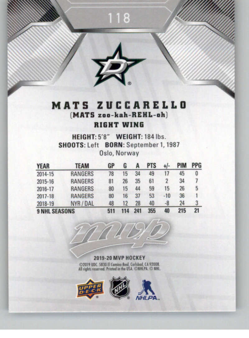 miniature 165 - 2019-20-Upper-Deck-MVP-Silver-Script-NHL-Hockey-Trading-Cards-Pick-From-List