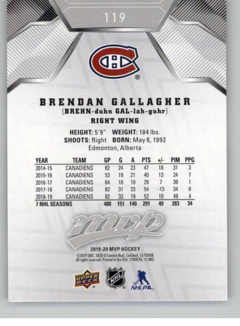 miniature 167 - 2019-20-Upper-Deck-MVP-Silver-Script-NHL-Hockey-Trading-Cards-Pick-From-List