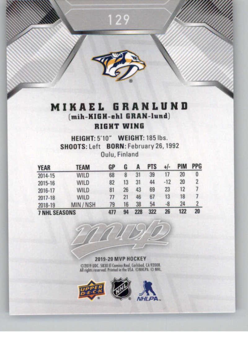 miniature 183 - 2019-20-Upper-Deck-MVP-Silver-Script-NHL-Hockey-Trading-Cards-Pick-From-List