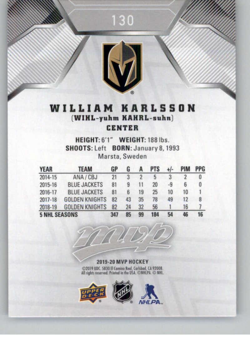 miniature 185 - 2019-20-Upper-Deck-MVP-Silver-Script-NHL-Hockey-Trading-Cards-Pick-From-List