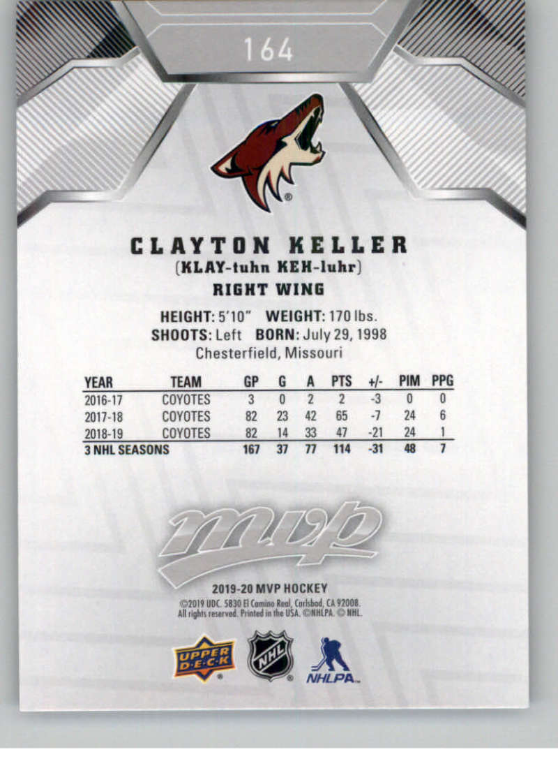 miniature 237 - 2019-20-Upper-Deck-MVP-Silver-Script-NHL-Hockey-Trading-Cards-Pick-From-List