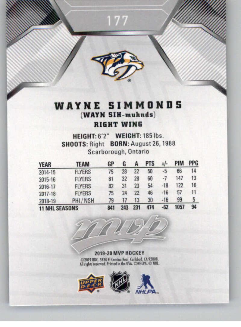 miniature 253 - 2019-20-Upper-Deck-MVP-Silver-Script-NHL-Hockey-Trading-Cards-Pick-From-List