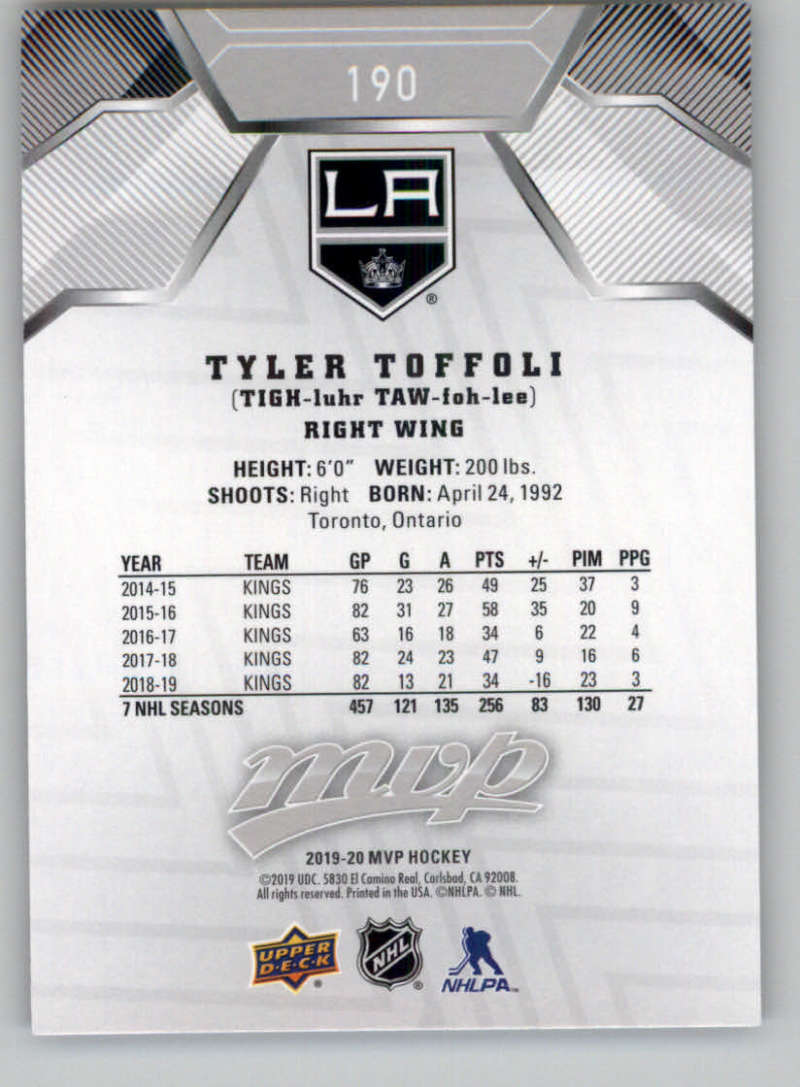 miniature 265 - 2019-20-Upper-Deck-MVP-Silver-Script-NHL-Hockey-Trading-Cards-Pick-From-List