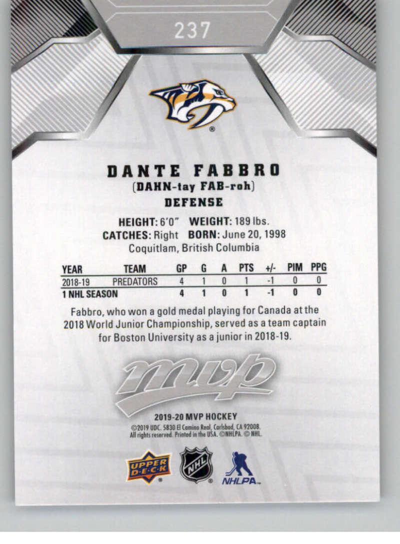 miniature 321 - 2019-20-Upper-Deck-MVP-Silver-Script-NHL-Hockey-Trading-Cards-Pick-From-List
