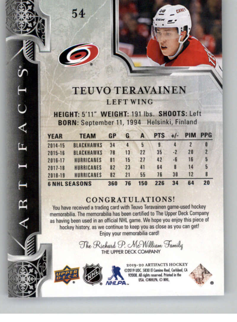 2019-20-Artifacts-PINK-19-20-UD-Upper-Deck-NHL-Hockey-Cards-Pick-From-List miniature 5