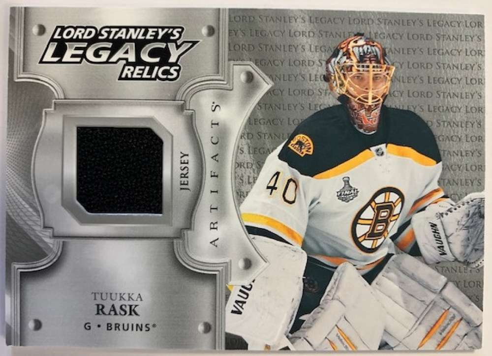 2019-20 Artifacts Lord Stanley's Legacy Relics Hockey #LSLR-TR Tuukka Rask Jersey/Relic Boston Bruins Official NHL Tradi