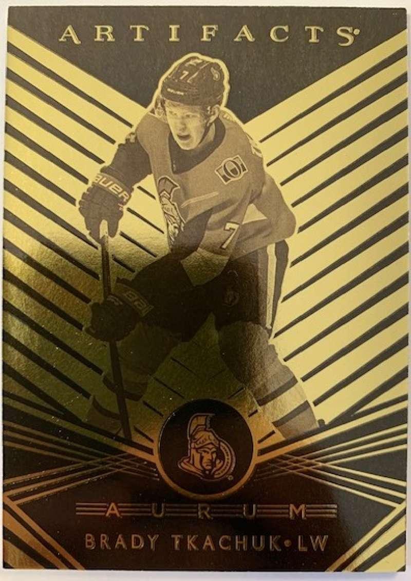 2019-20 Artifacts Aurum Hockey #A-11 Brady Tkachuk Ottawa Senators Official NHL Trading Card From Upper Deck