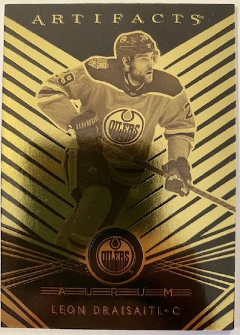 2019-20 Artifacts Aurum Hockey #A-36 Leon Draisaitl Edmonton Oilers Official NHL Trading Card From Upper Deck