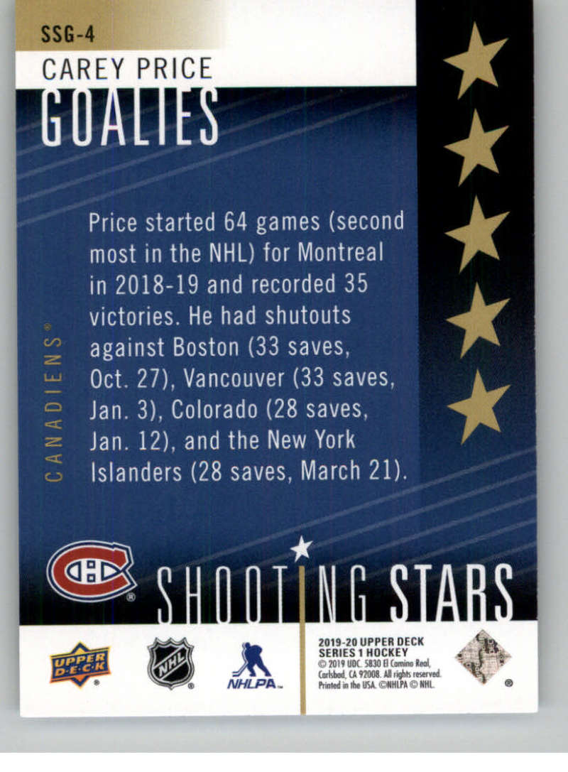 2019-20-Upper-Deck-Series-One-Shooting-Stars-Base-or-Red-NHL-Hockey-Cards-PFL miniature 33