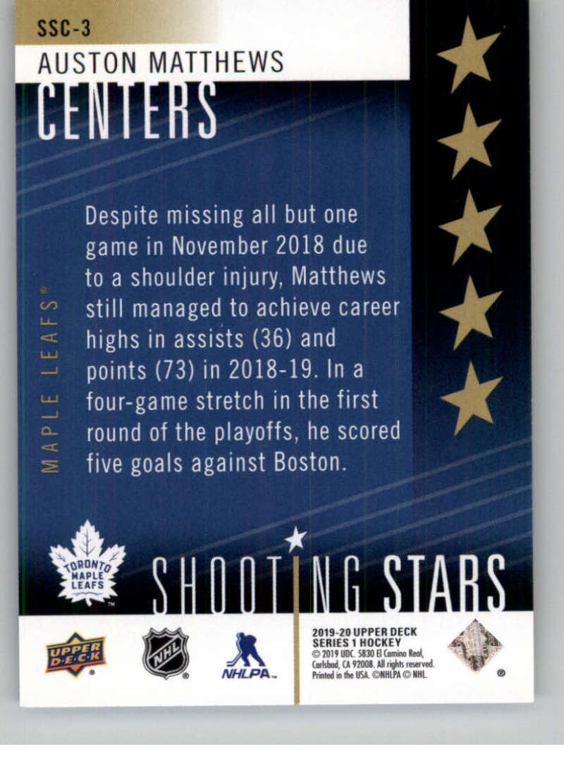 2019-20-Upper-Deck-Series-One-Shooting-Stars-Base-or-Red-NHL-Hockey-Cards-PFL miniature 7