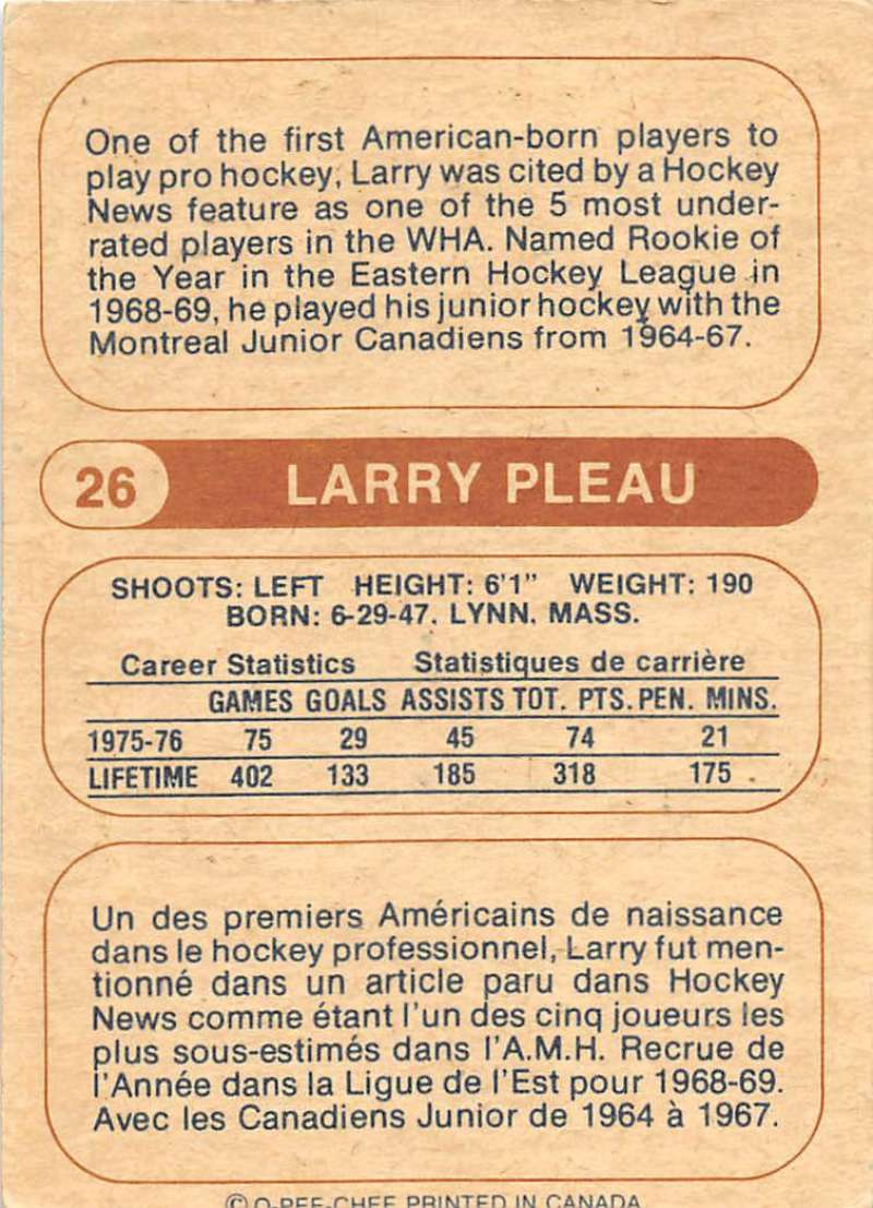 1976-77-O-Pee-Chee-OPC-WHA-Hockey-Trading-Cards-Pick-From-List-Set-Break-One miniature 37