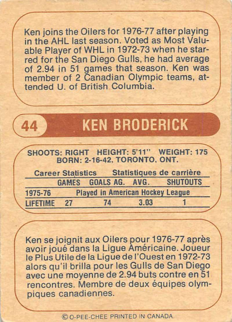 1976-77-O-Pee-Chee-OPC-WHA-Hockey-Trading-Cards-Pick-From-List-Set-Break-One miniature 59