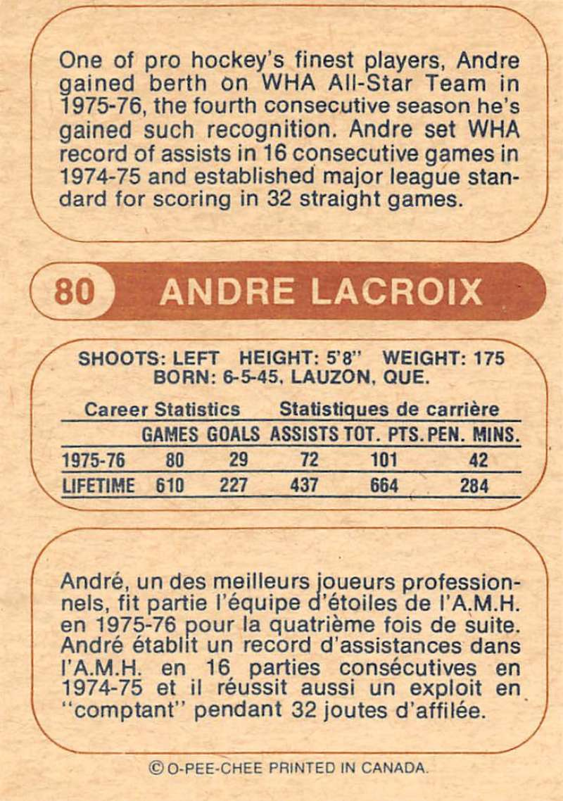 1976-77-O-Pee-Chee-OPC-WHA-Hockey-Trading-Cards-Pick-From-List-Set-Break-One miniature 77