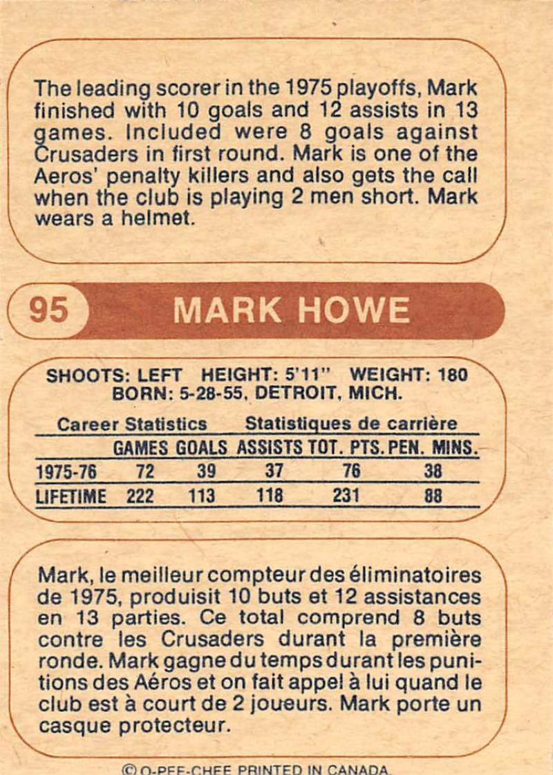 1976-77-O-Pee-Chee-OPC-WHA-Hockey-Trading-Cards-Pick-From-List-Set-Break-One miniature 95
