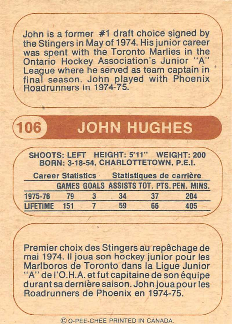 1976-77-O-Pee-Chee-OPC-WHA-Hockey-Trading-Cards-Pick-From-List-Set-Break-One miniature 109