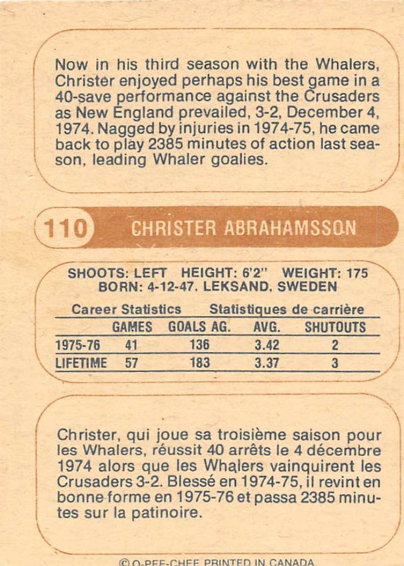 1976-77-O-Pee-Chee-OPC-WHA-Hockey-Trading-Cards-Pick-From-List-Set-Break-One miniature 115
