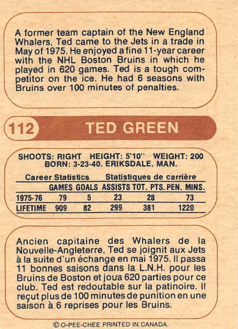 1976-77-O-Pee-Chee-OPC-WHA-Hockey-Trading-Cards-Pick-From-List-Set-Break-One miniature 119