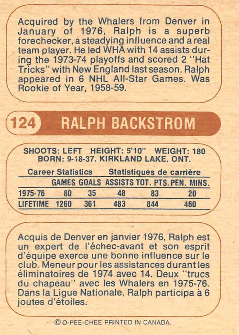 1976-77-O-Pee-Chee-OPC-WHA-Hockey-Trading-Cards-Pick-From-List-Set-Break-One miniature 135