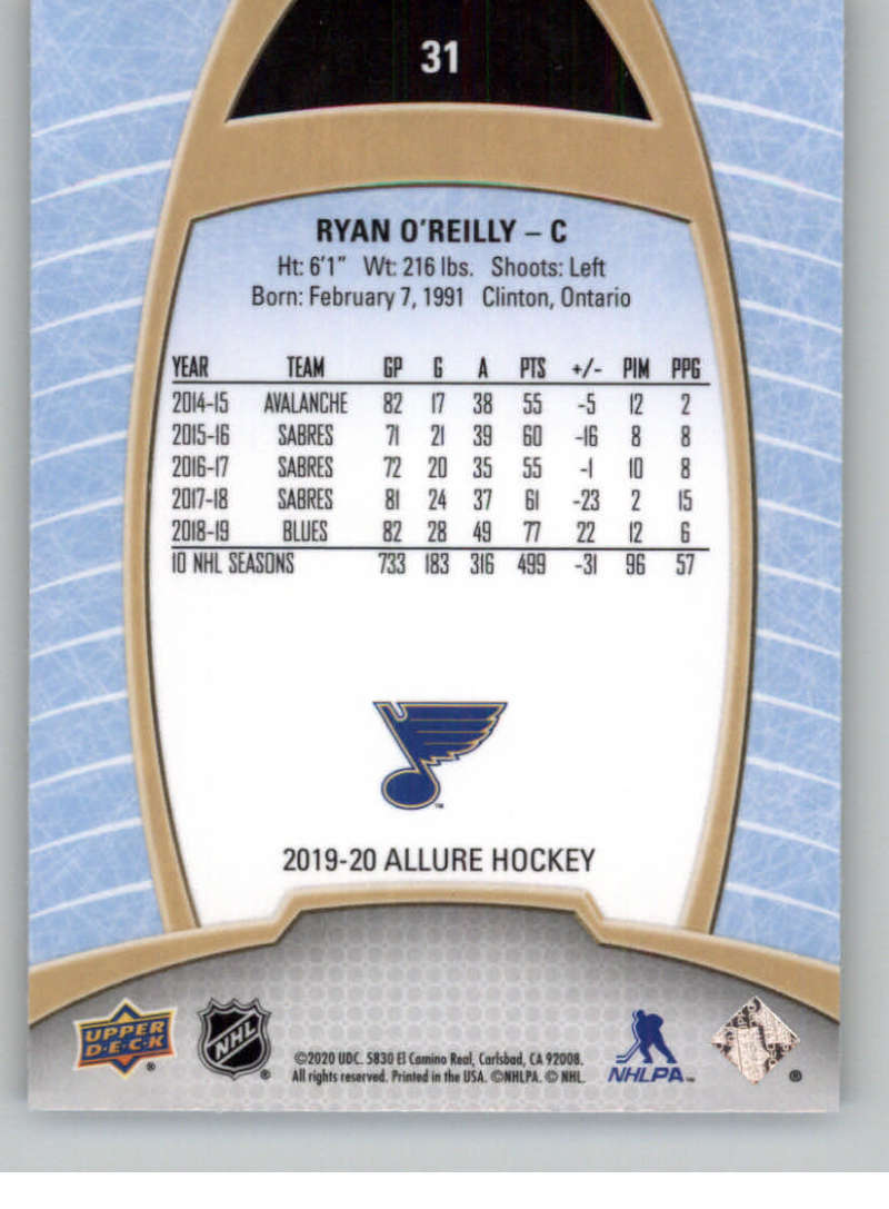 miniature 63 - 2019-20-Upper-Deck-Allure-19-20-UD-NHL-Hockey-Trading-Cards-Pick-From-List