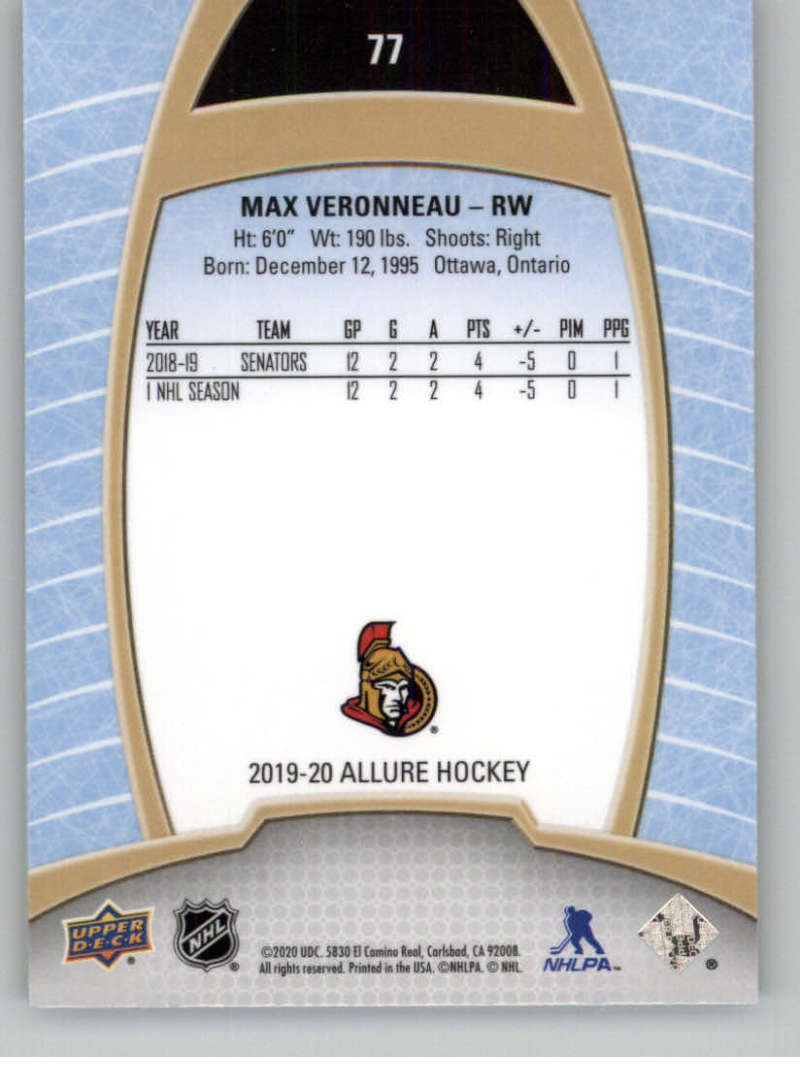 miniature 153 - 2019-20-Upper-Deck-Allure-19-20-UD-NHL-Hockey-Trading-Cards-Pick-From-List