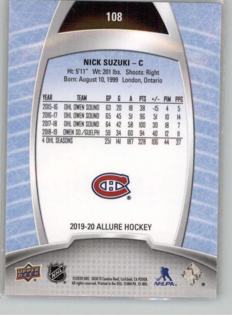 miniature 202 - 2019-20-Upper-Deck-Allure-19-20-UD-NHL-Hockey-Trading-Cards-Pick-From-List