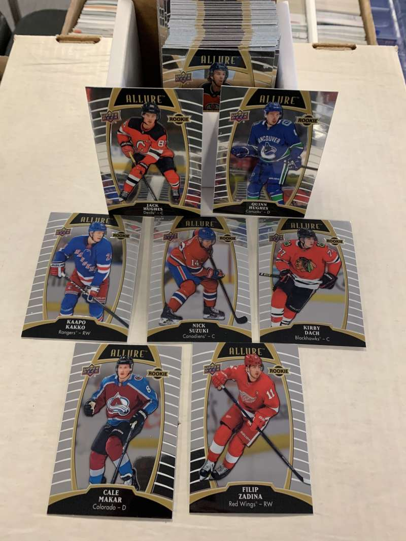 2019-20 Upper Deck Allure NHL Hockey Complete Hand Collated Base Set 1-100 (NO SHORT PRINTS) - Includes 60 Veteran and 4