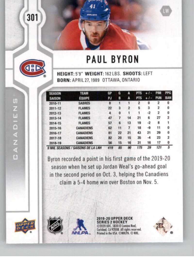 2019-20-Upper-Deck-Series-Two-NHL-Hockey-Cards-Base-or-Young-Guns-Pick-From-List miniature 87