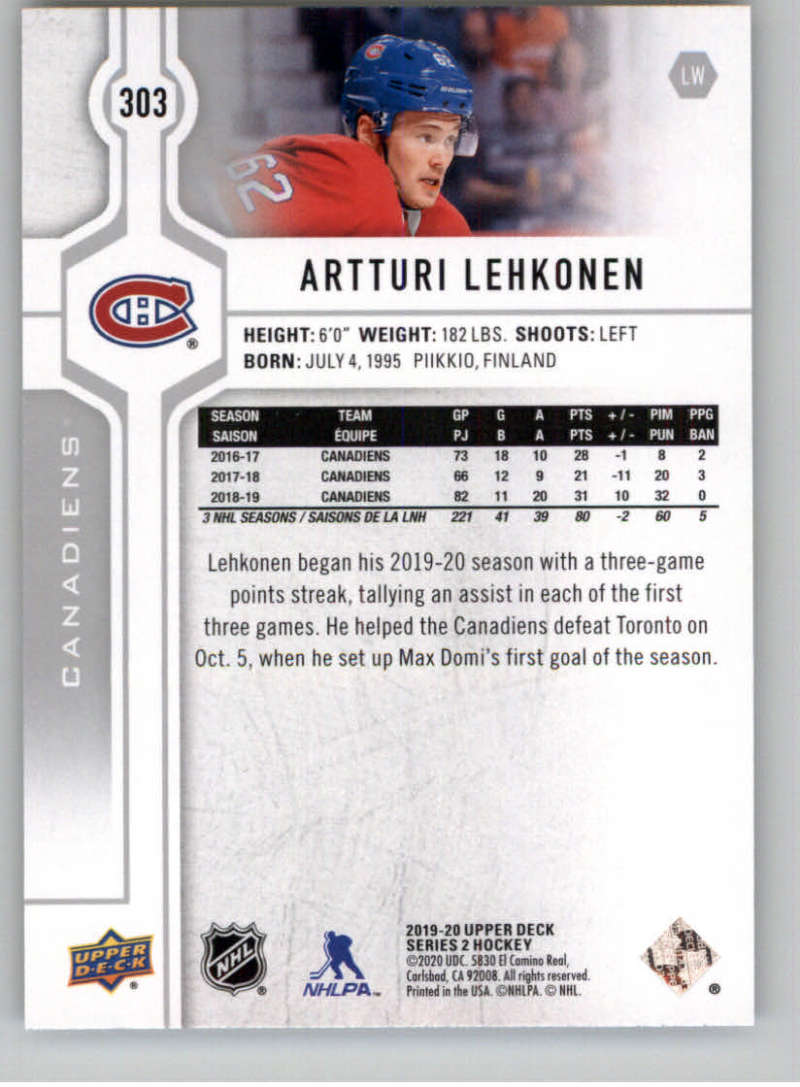 2019-20-Upper-Deck-Series-Two-NHL-Hockey-Cards-Base-or-Young-Guns-Pick-From-List miniature 89