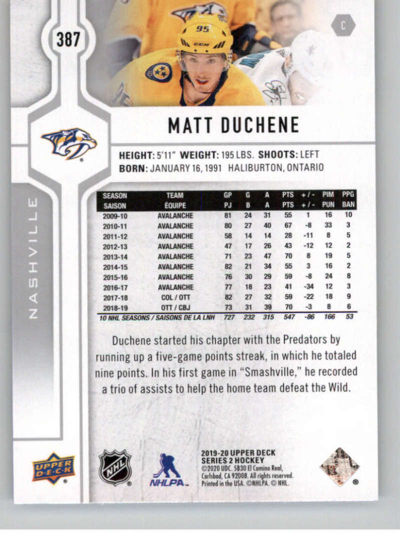 2019-20-Upper-Deck-Series-Two-NHL-Hockey-Cards-Base-or-Young-Guns-Pick-From-List miniature 219