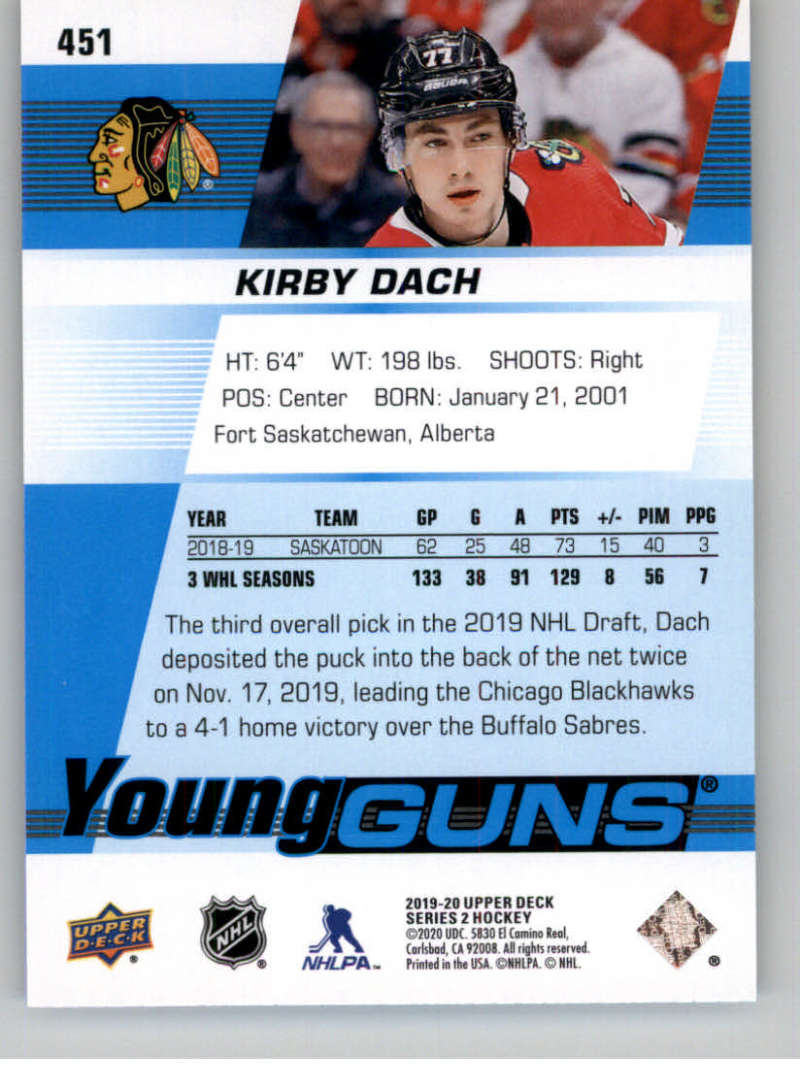 2019-20-Upper-Deck-Series-Two-NHL-Hockey-Cards-Base-or-Young-Guns-Pick-From-List miniature 325