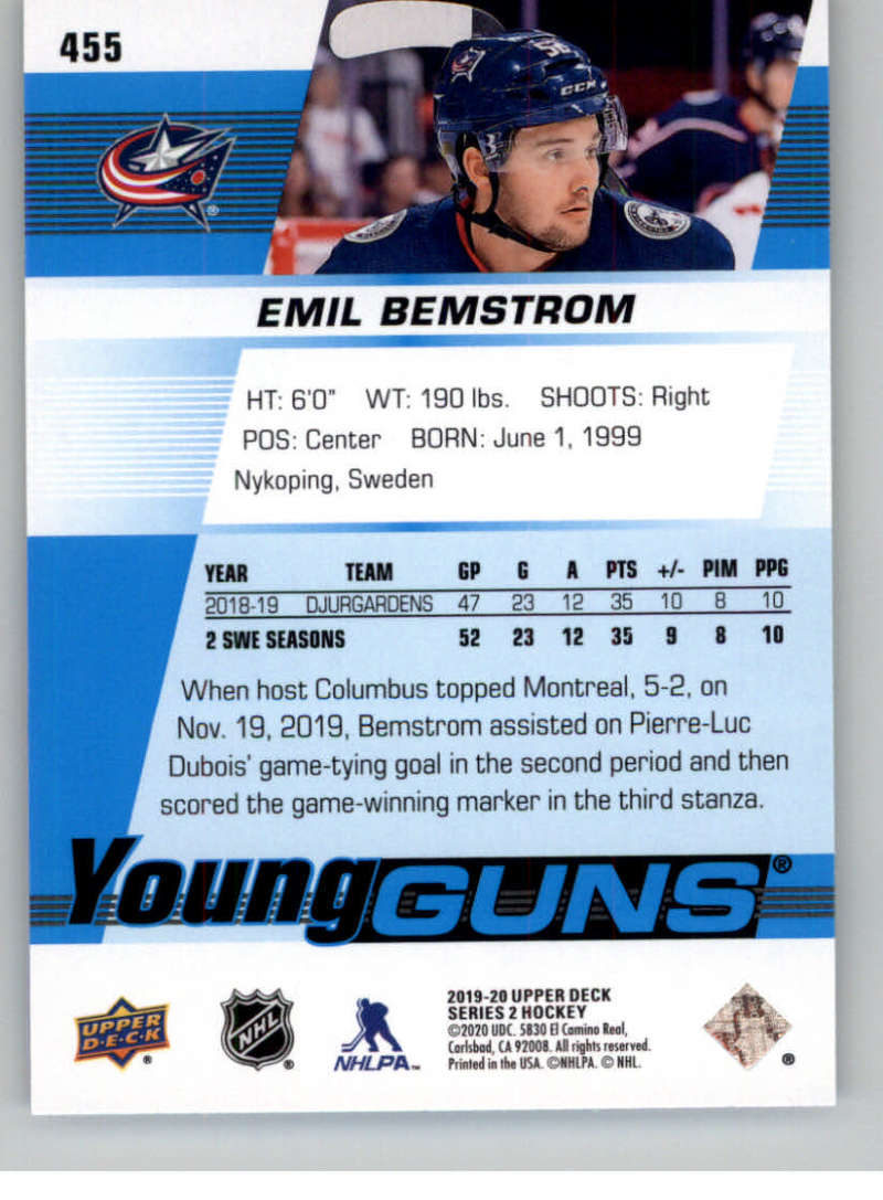 2019-20-Upper-Deck-Series-Two-NHL-Hockey-Cards-Base-or-Young-Guns-Pick-From-List miniature 331