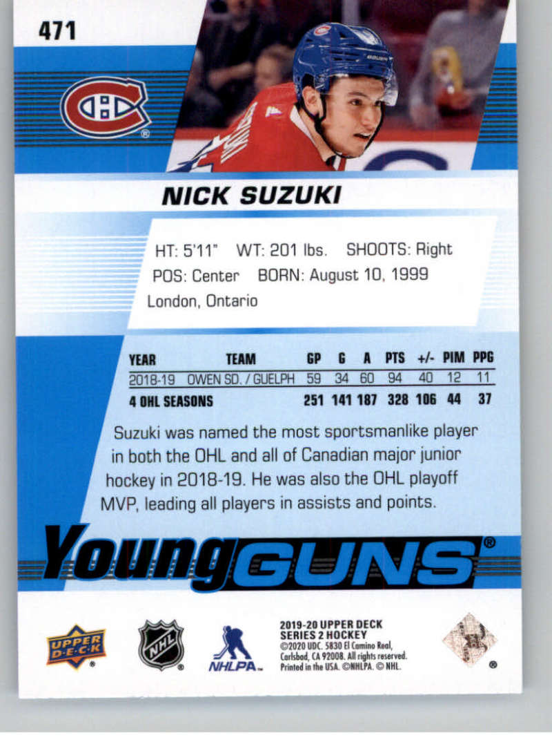 2019-20-Upper-Deck-Series-Two-NHL-Hockey-Cards-Base-or-Young-Guns-Pick-From-List miniature 359