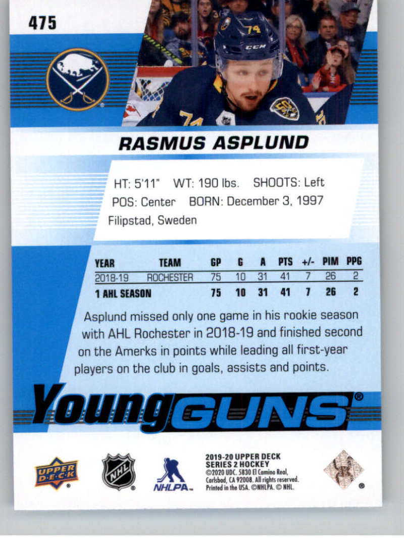 2019-20-Upper-Deck-Series-Two-NHL-Hockey-Cards-Base-or-Young-Guns-Pick-From-List miniature 367