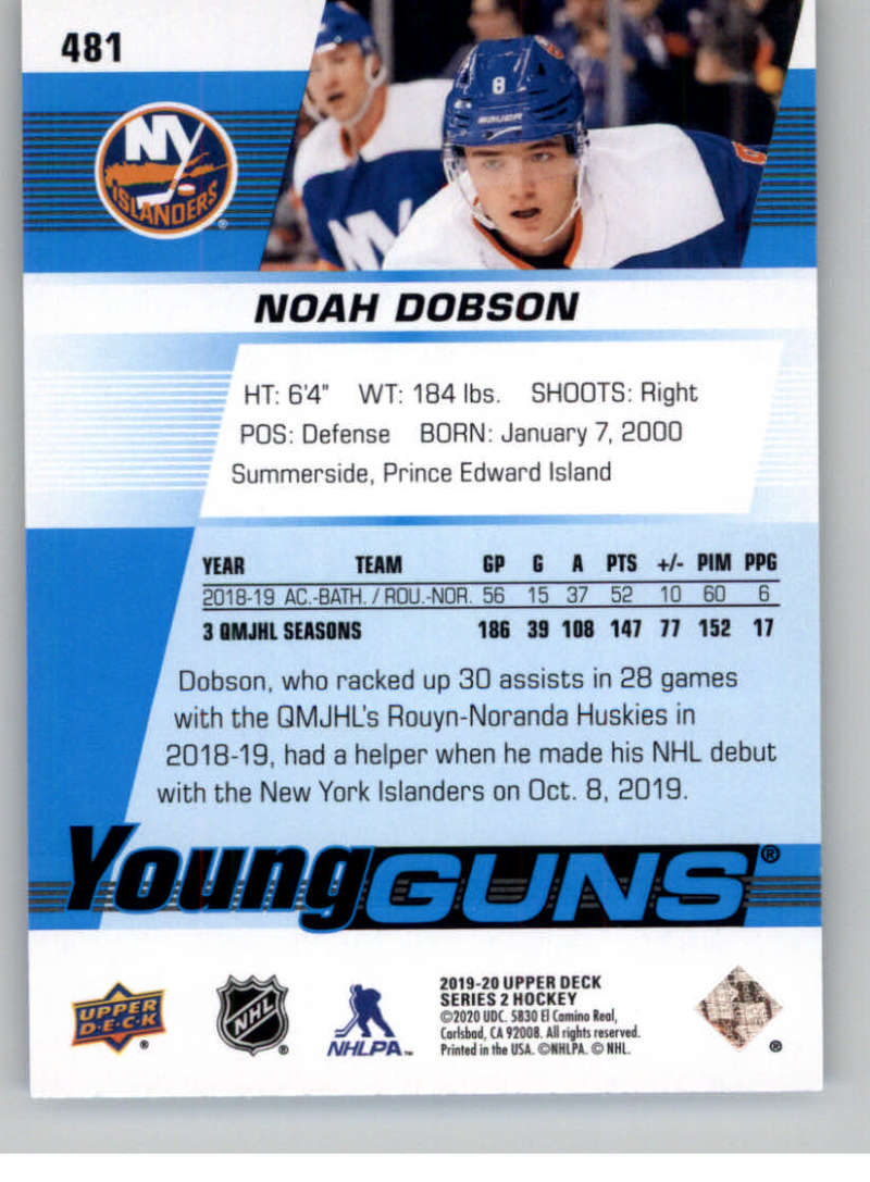 2019-20-Upper-Deck-Series-Two-NHL-Hockey-Cards-Base-or-Young-Guns-Pick-From-List miniature 379
