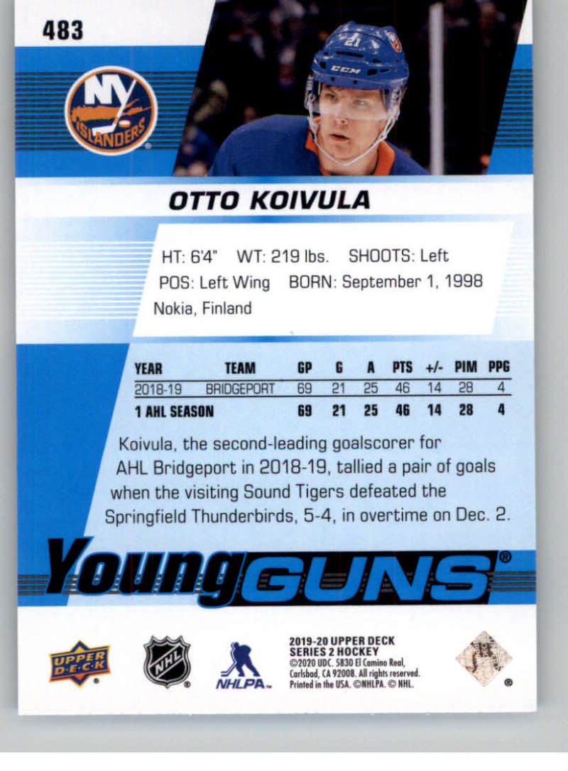 2019-20-Upper-Deck-Series-Two-NHL-Hockey-Cards-Base-or-Young-Guns-Pick-From-List miniature 383