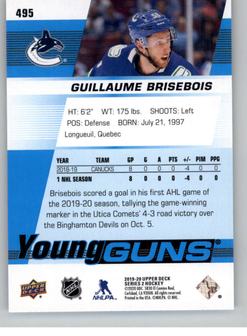 2019-20-Upper-Deck-Series-Two-NHL-Hockey-Cards-Base-or-Young-Guns-Pick-From-List miniature 399