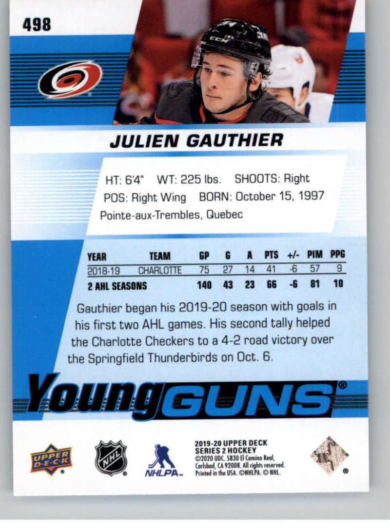 2019-20-Upper-Deck-Series-Two-NHL-Hockey-Cards-Base-or-Young-Guns-Pick-From-List miniature 405