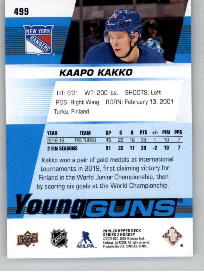 2019-20-Upper-Deck-Series-Two-NHL-Hockey-Cards-Base-or-Young-Guns-Pick-From-List miniature 407